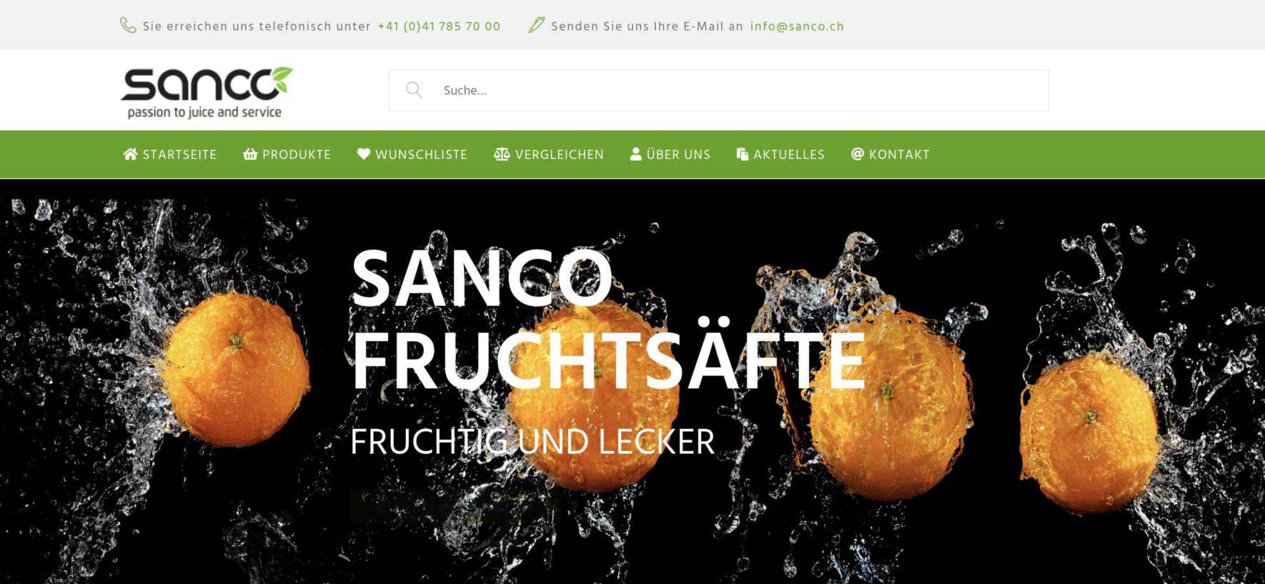 Sanco AG mit neuer Internetpräsenz DE